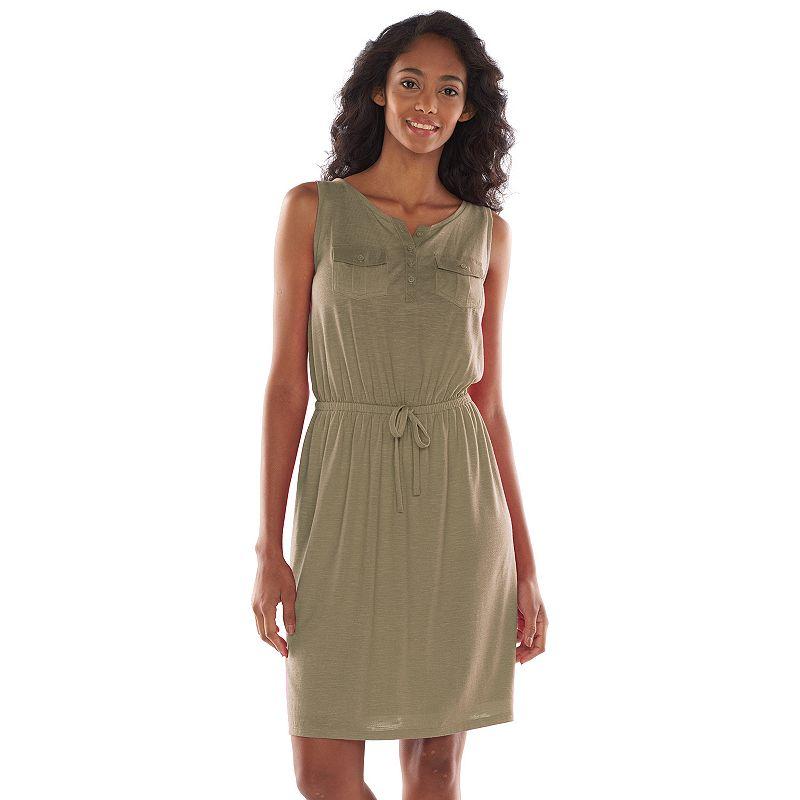SONOMA life + style Slubbed Henley Dress - Women's