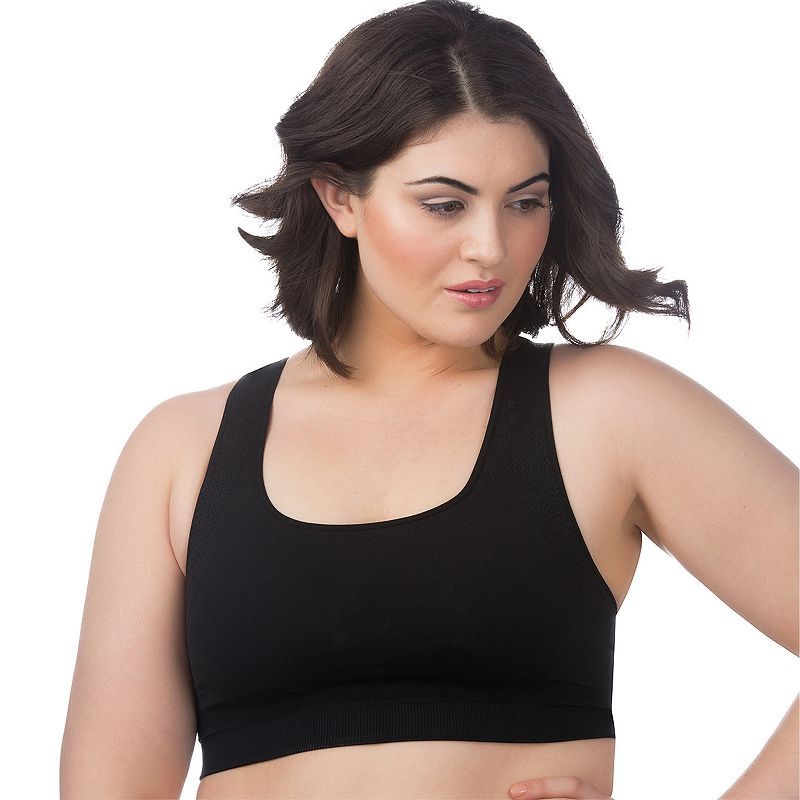 Plus Size Superfit Curves Bra: Seamless Medium-Impact Sports Bra 23320