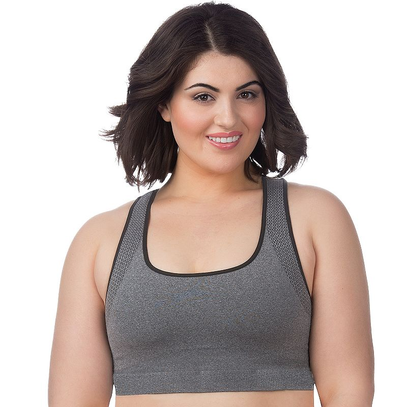 Plus Size Superfit Curves Bra: Seamless Medium-Impact Sports Bra 23420