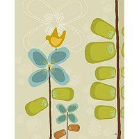 Green Leaf Art Birds & Flowers Canvas Wall Art