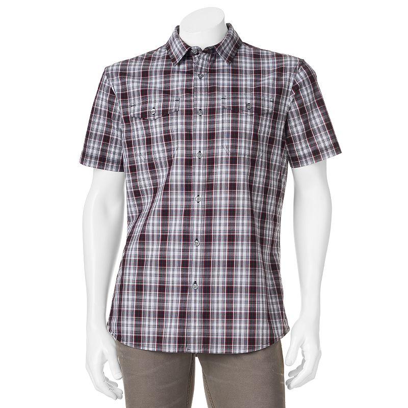 Men's Apt. 9® Modern-Fit Plaid Woven Casual Button-Down Shirt