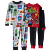 The Avengers Infinity Gauntlet 4-Piece Pajama Set - Boys 4-10