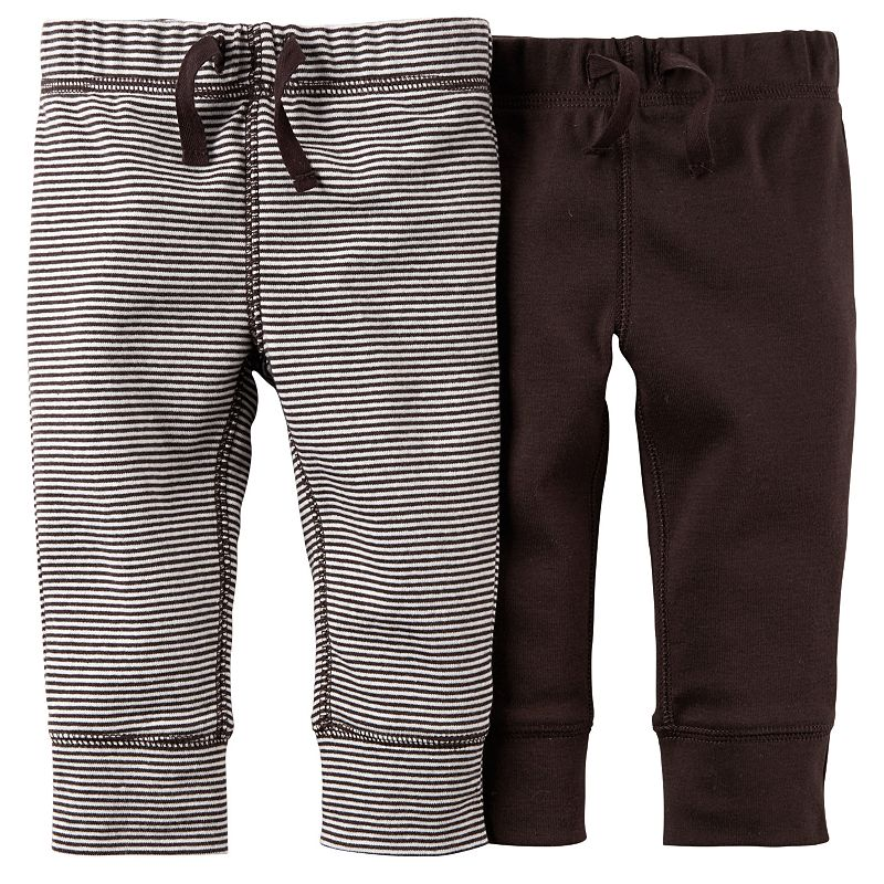 Carter's 2-pk. Striped & Solid Pants - Baby Boy