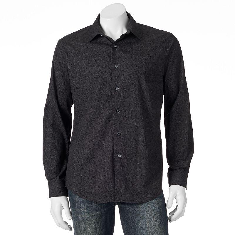 Men's Apt. 9® Modern-Fit Paisley Casual Button-Down Shirt