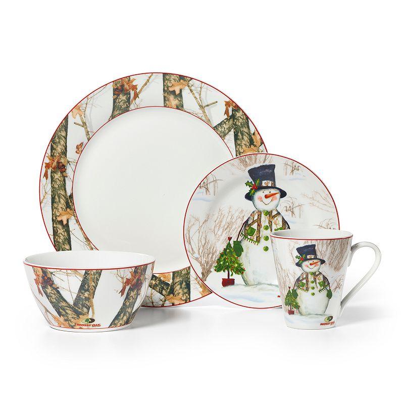 Mossy Oak Snowman Holiday 16-pc. Dinnerware Set