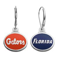 Fiora Florida Gators Sterling Silver Team Logo Drop Earrings