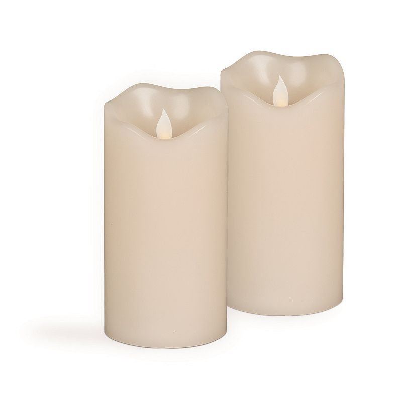Motion Flame 2-piece 3'' x 6'' LED Candle Set