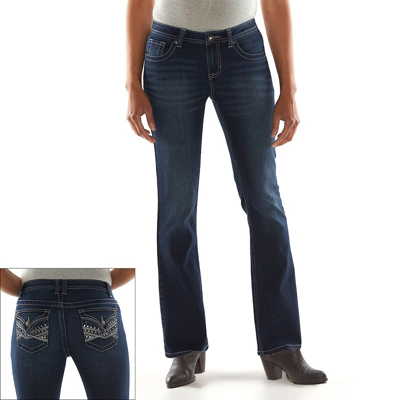 Women's Apt. 9® Modern Fit Embellished Bootcut Jeans
