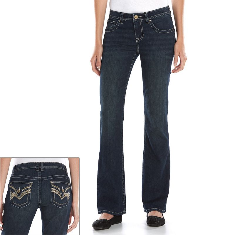 Women's Apt. 9® Modern Fit Embellished Bootcut Jeans
