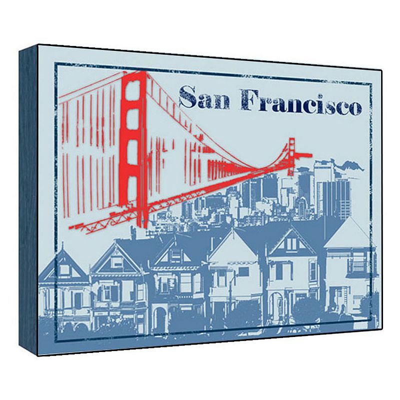 39 39 san francisco 39 39 wall art dealtrend. Black Bedroom Furniture Sets. Home Design Ideas