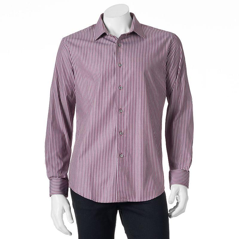 Men's Apt. 9® Modern-Fit Striped Woven Casual Button-Down Shirt
