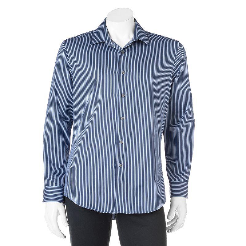 Men's Apt. 9® Modern-Fit Striped Spread-Collar Casual Button-Down Shirt