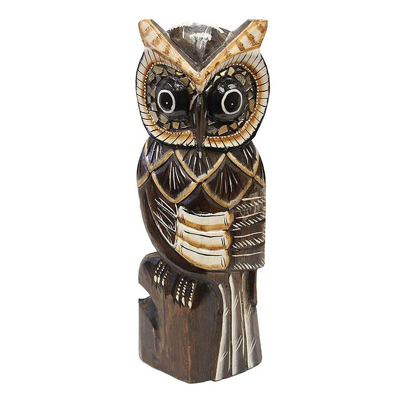 Wooden Owl Decor