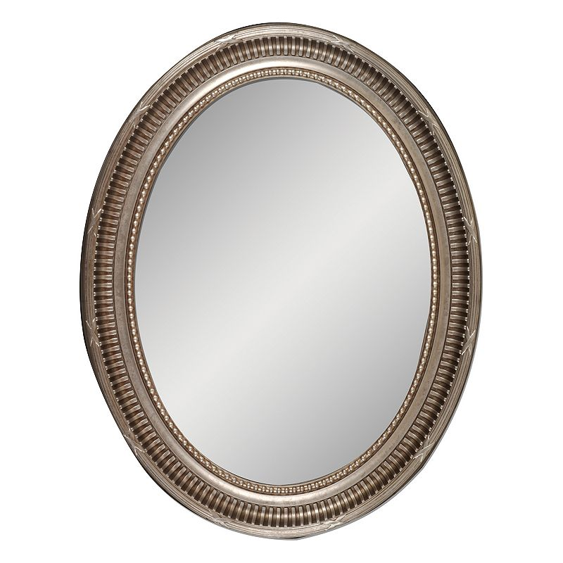 Belle Maison Oval Champagne Wall Mirror