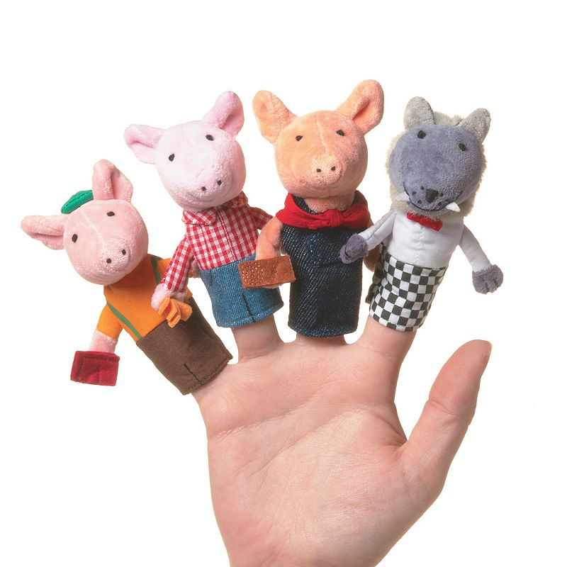 Three Little Pigs Finger Puppet Set by Manhattan Toy