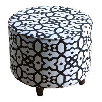SONOMA Geometric Round Ottoman