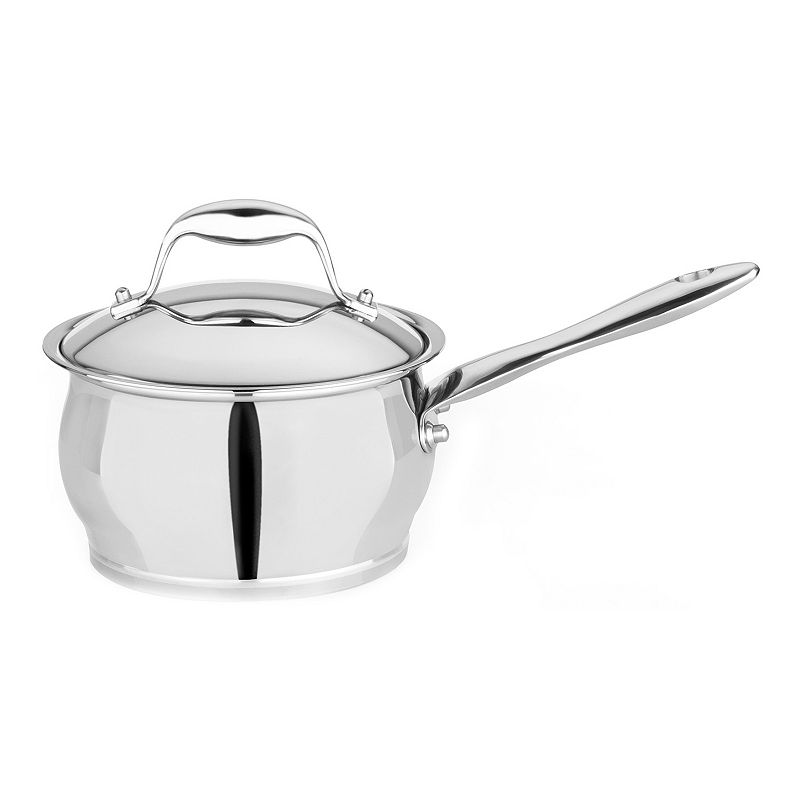 BergHOFF Zeno 2.1-qt. Stainless Steel Covered Saucepan