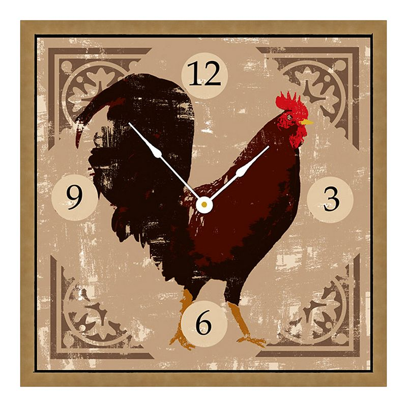 Rooster Art Wall Clock