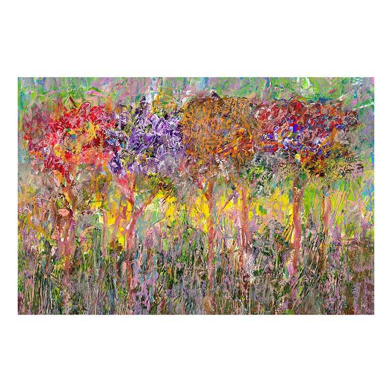 ''Colorful Trees'' Canvas Wall Art