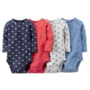 Carter's 4-pk. Striped & Football Bodysuits - Baby Boy