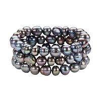 Freshwater by HONORA Dyed Freshwater Cultured Pearl Stretch Bracelet Set