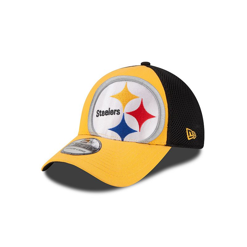 New Era Pittsburgh Steelers Logo Blimp Neo 39THIRTY Stretch-Fit Cap - Adult