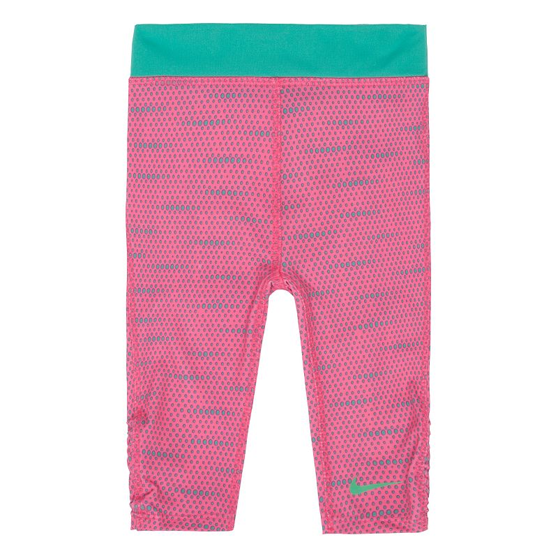 Toddler Girl Nike Dri-FIT Dotted Capri Leggings