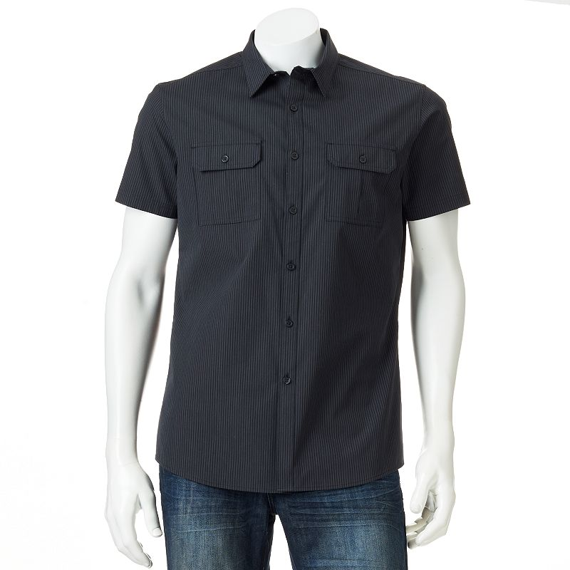 Men's Marc Anthony Slim-Fit Striped Casual Button-Down Shirt