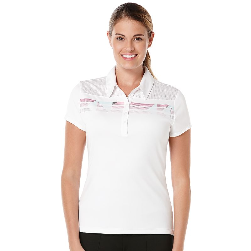 Women's Grand Slam Striped Golf Polo