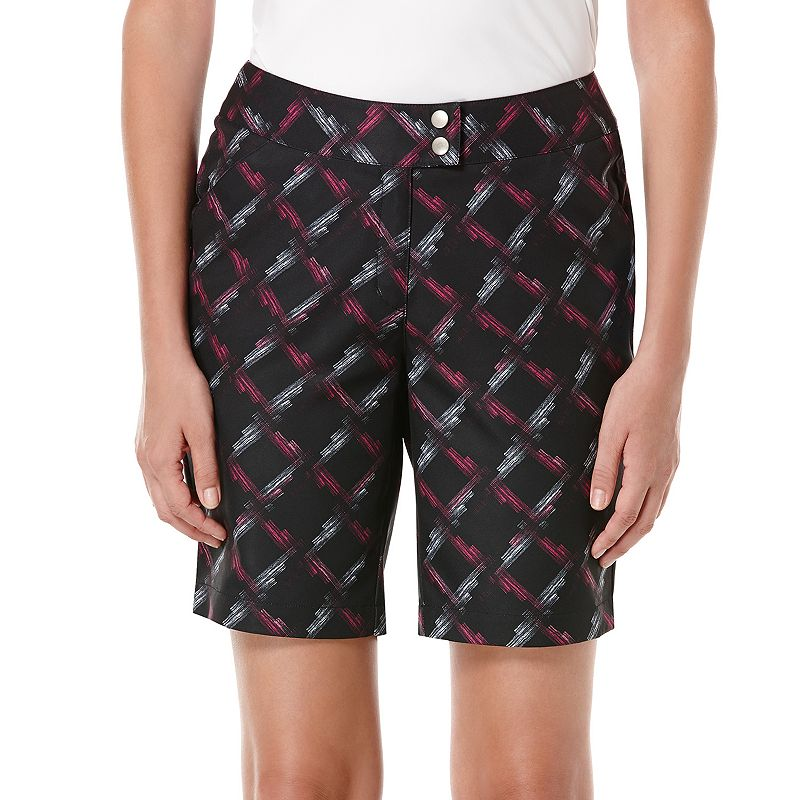 Women's Grand Slam Plaid Golf Shorts