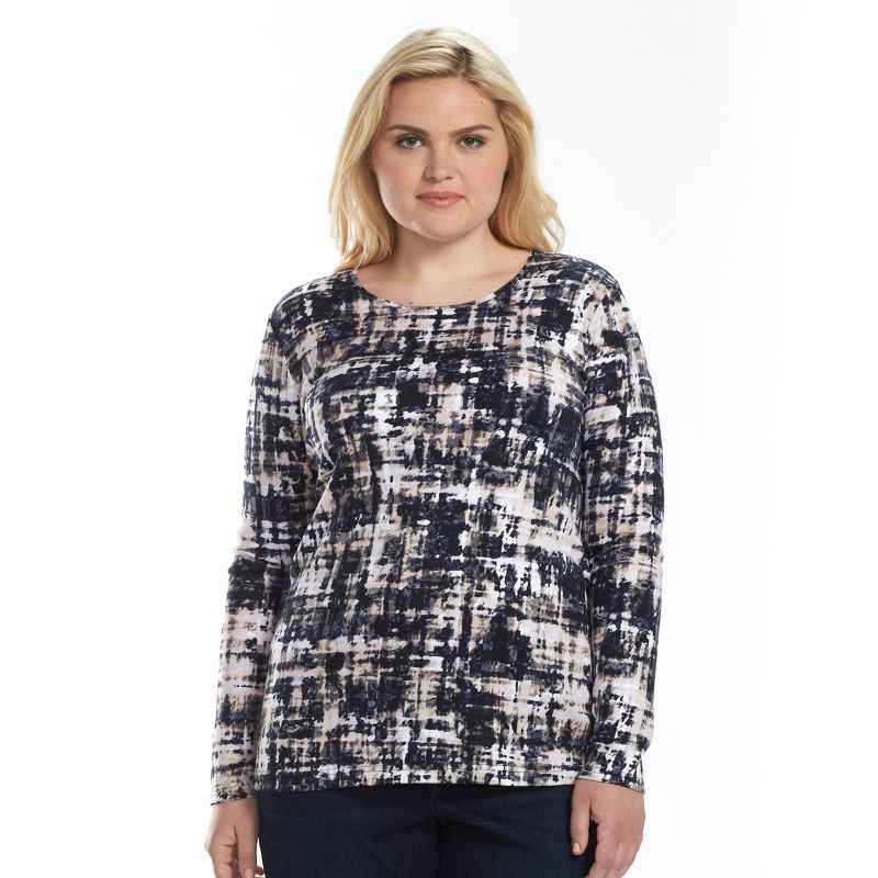Plus Size Croft & Barrow Classic Tee, Women's, Size: 1X, Black