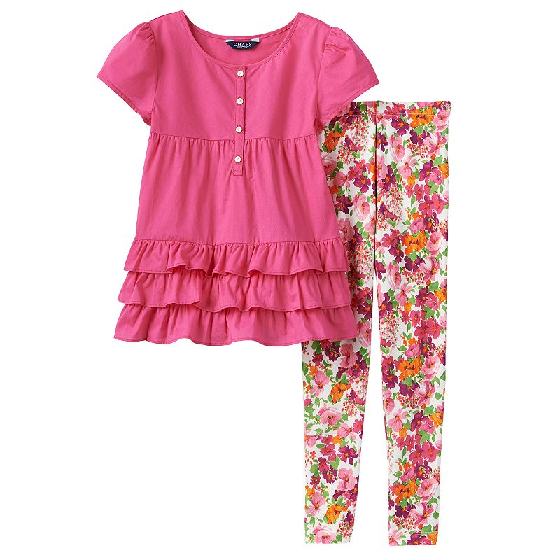 Toddler Girl Chaps Ruffled Top & Leggings Set