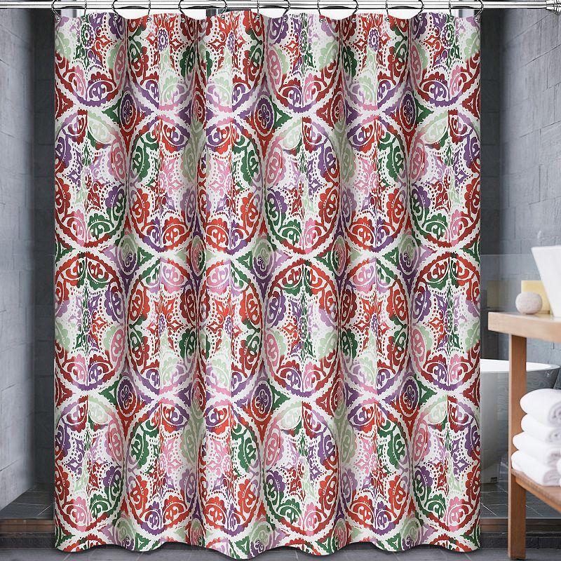 Popular Bath Delfina Fabric Shower Curtain