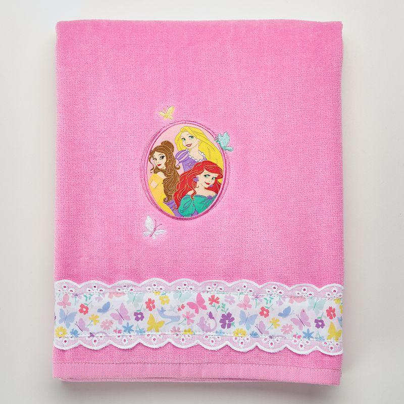 Disney Princess Ariel, Belle & Rapunzel Bath Towel