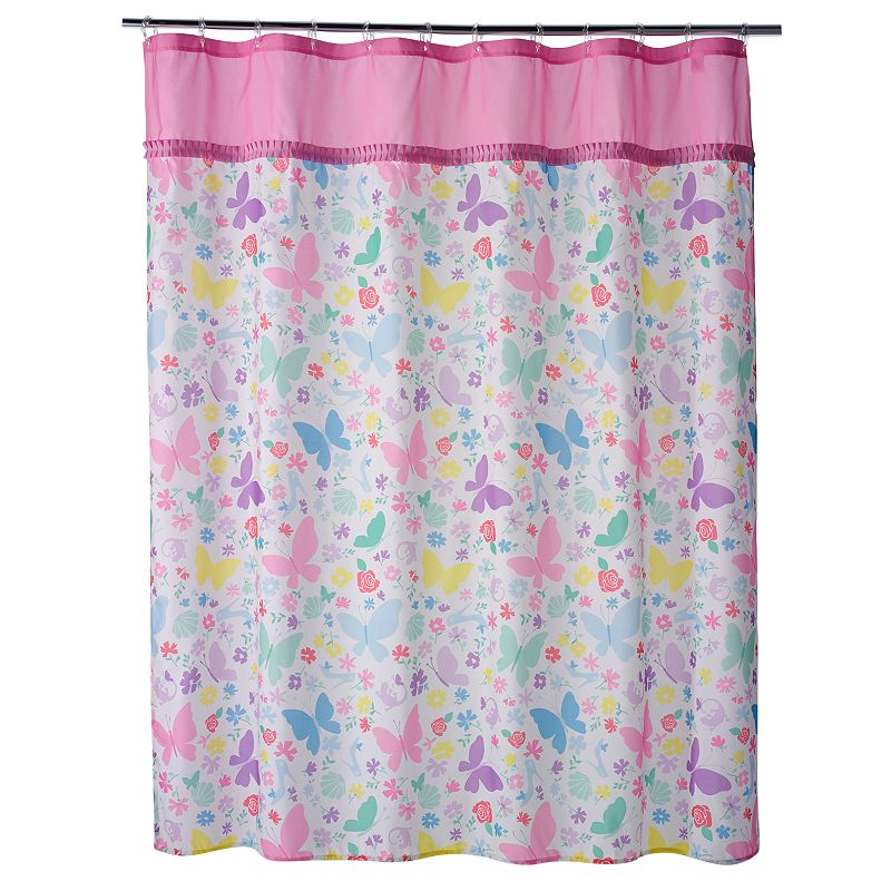 Disney Princess Butterfly Fabric Shower Curtain