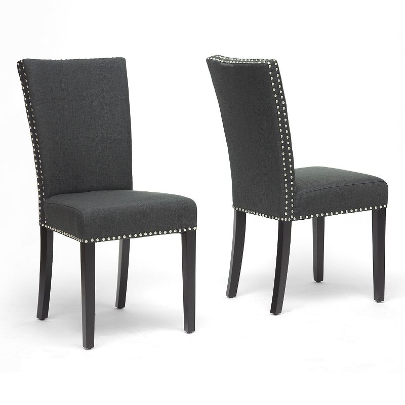 Baxton Studios 2-Piece Harrowgate Modern Dining Chair Set