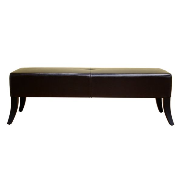 Baxton Studios Danilo Leather Bench