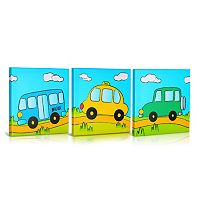 Green Frog Baby Going Places 3-pk. Canvas Wall Art
