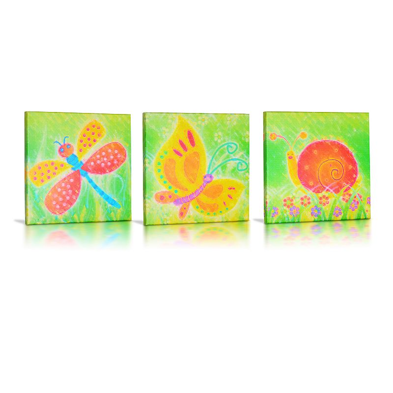 Green Frog Baby Friendly Critters 3-pk. Canvas Wall Art