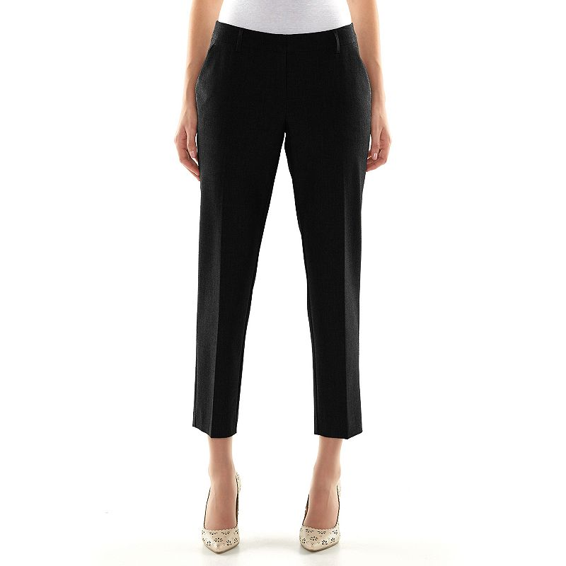 Apt. 9® Curvy Fit Ankle Dress Pants - Women's