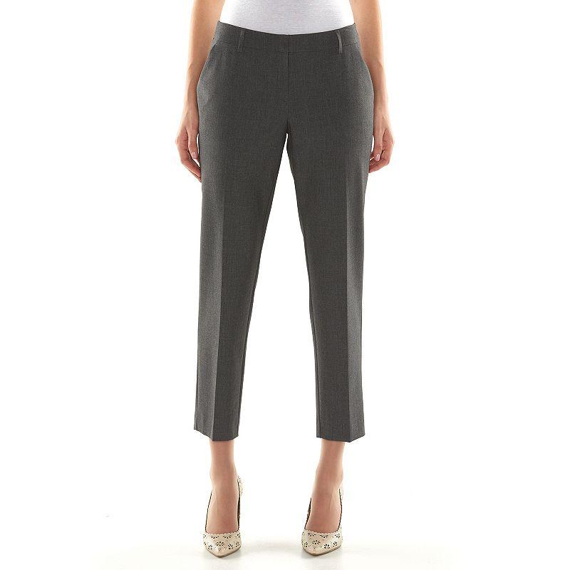 Apt. 9® Curvy Fit Ankle Dress Pants - Women's