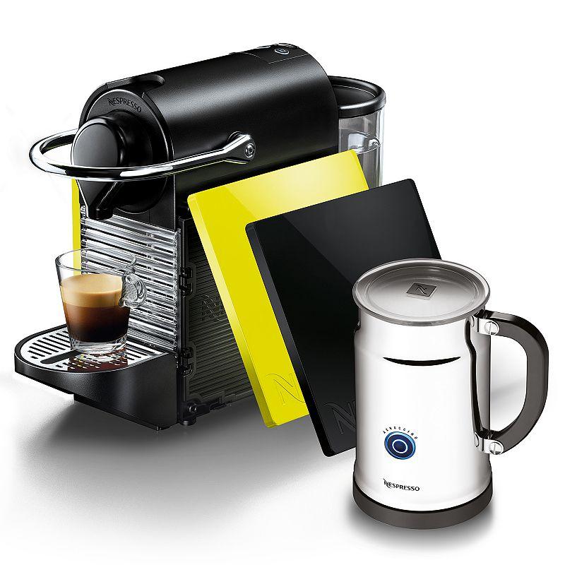 Nespresso Pixie Clip Single-Serve Espresso Machine Bundle