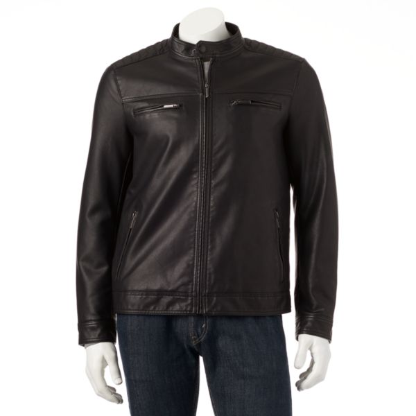 Men's Apt.9® Modern-Fit Faux-Leather Moto Jacket