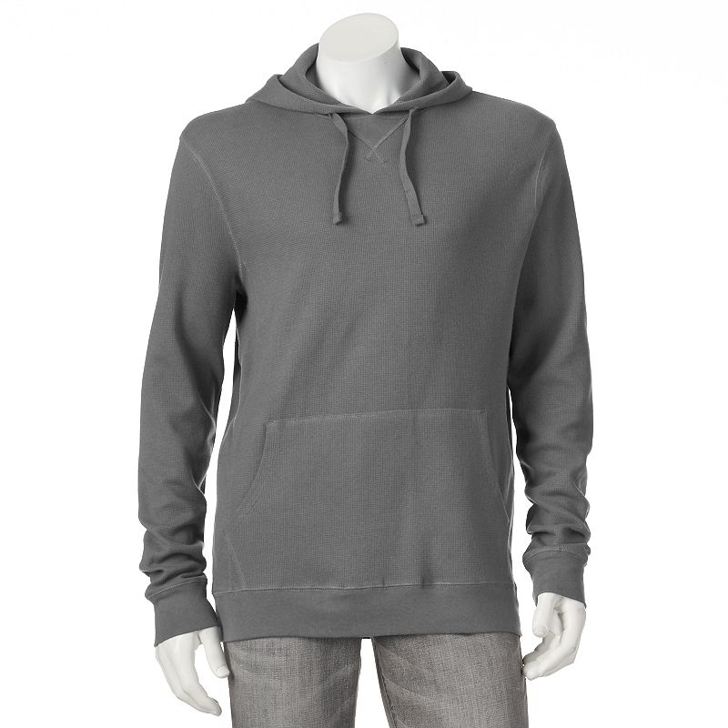 Men's Croft & Barrow® Classic-Fit Solid Thermal Hooded Pullover - Men