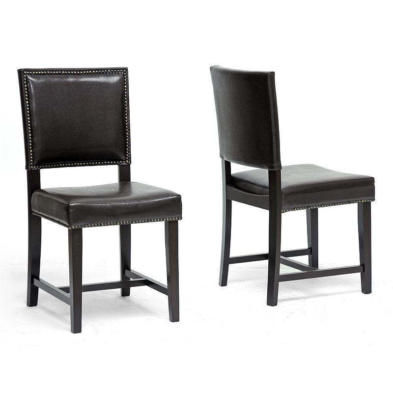 Baxton Studios Nottingham 2-Piece Modern Dining Chair Set
