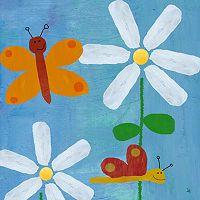 Green Leaf Art Butterflies & Fireflies Canvas Wall Art