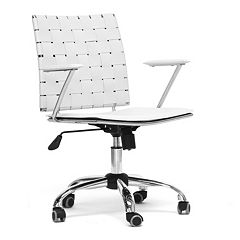 Baxton Studio Vittoria Leather Modern Office Chair by