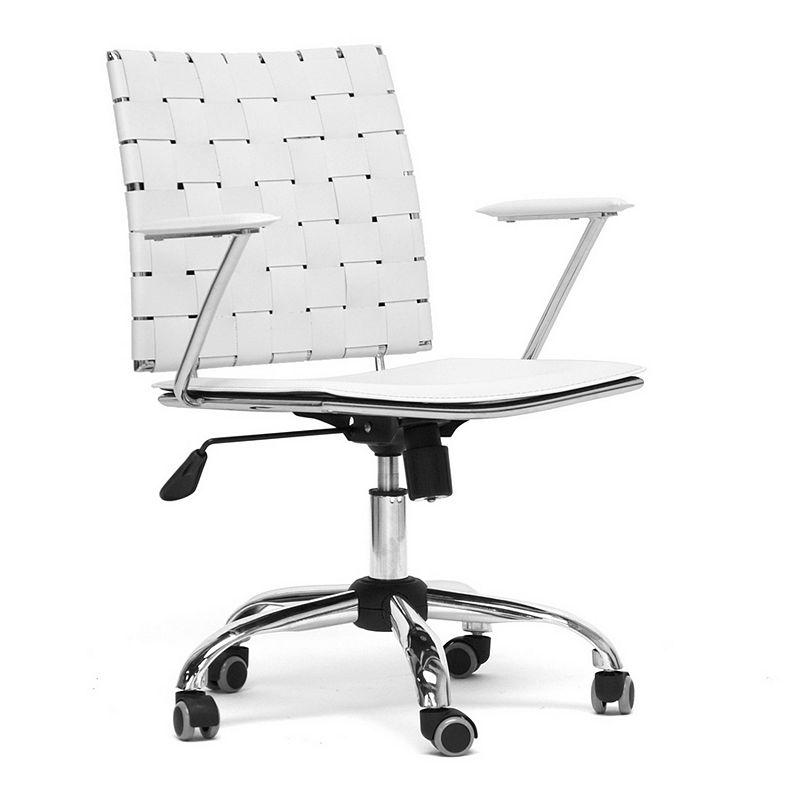 Baxton Studios Vittoria Leather Modern Office Chair