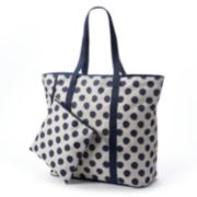 Tri-Coastal Design Polka-Dot Beach Bag
