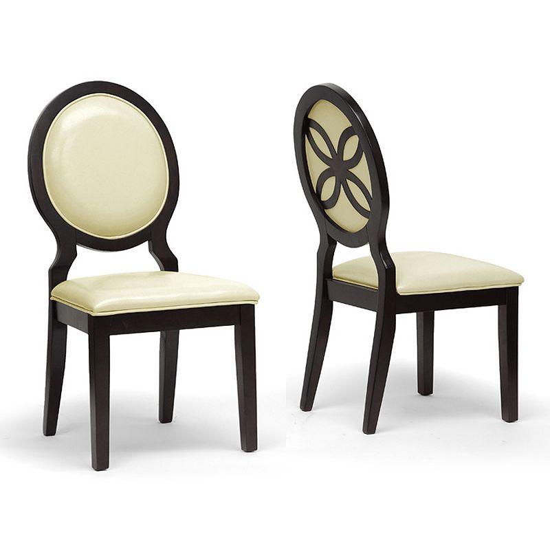 Baxton Studios Vandegriff 2-Piece Modern Dining Chair Set
